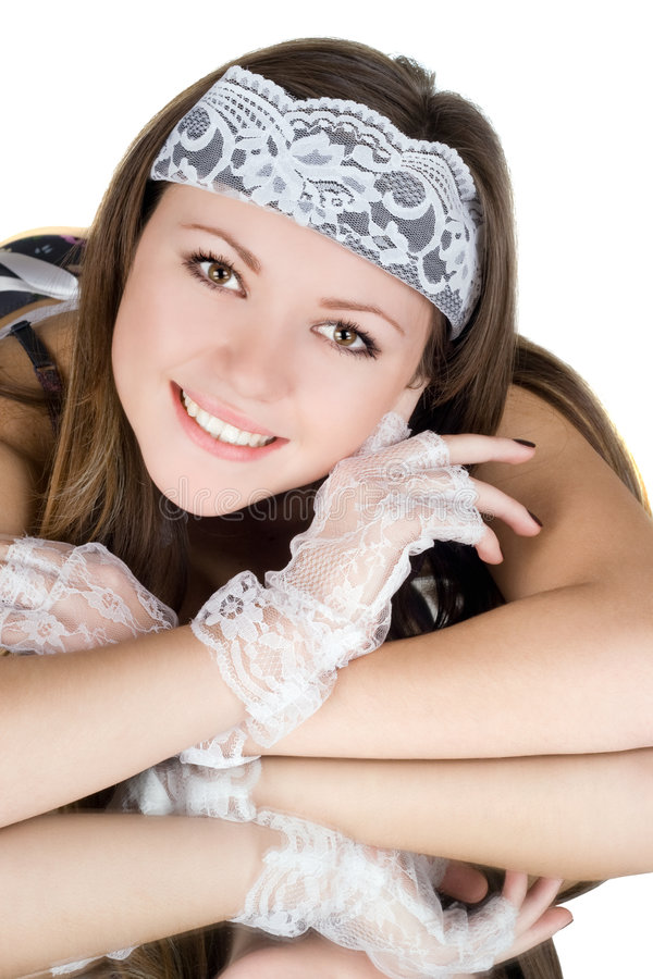 Ritratto della ragazza graziosa fotografia stock libera da diritti