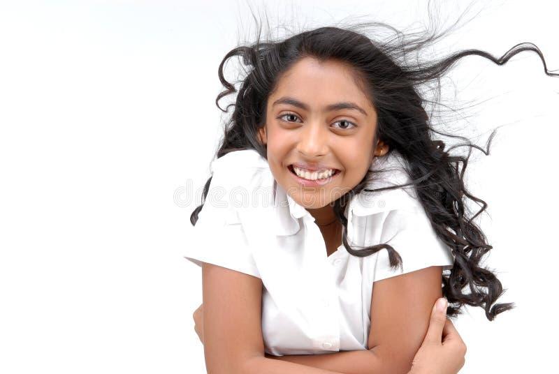 Ritratto della ragazza indiana allegra immagini stock
