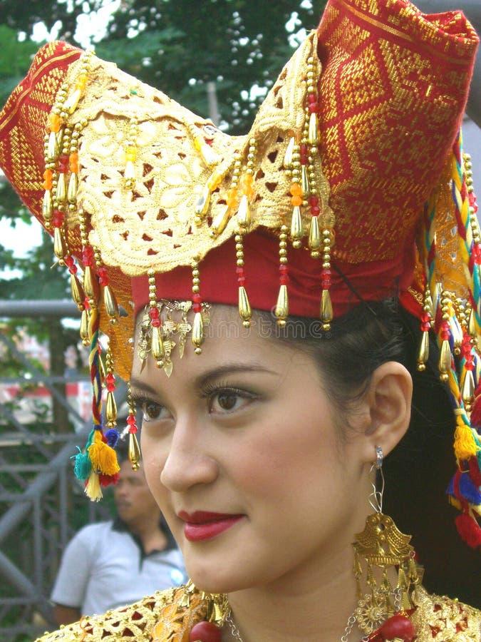 Ritratto della ragazza indonesiana fotografia stock libera da diritti
