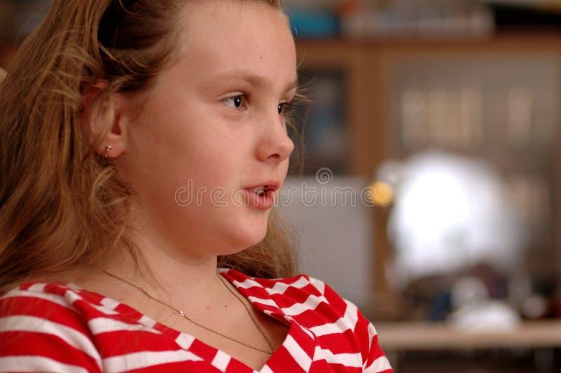 Ritratto della ragazza seria. fotografia stock libera da diritti