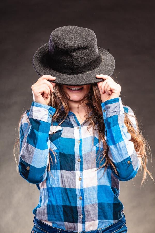 Ritratto della ragazza splendida della donna del paese Modo fotografia stock