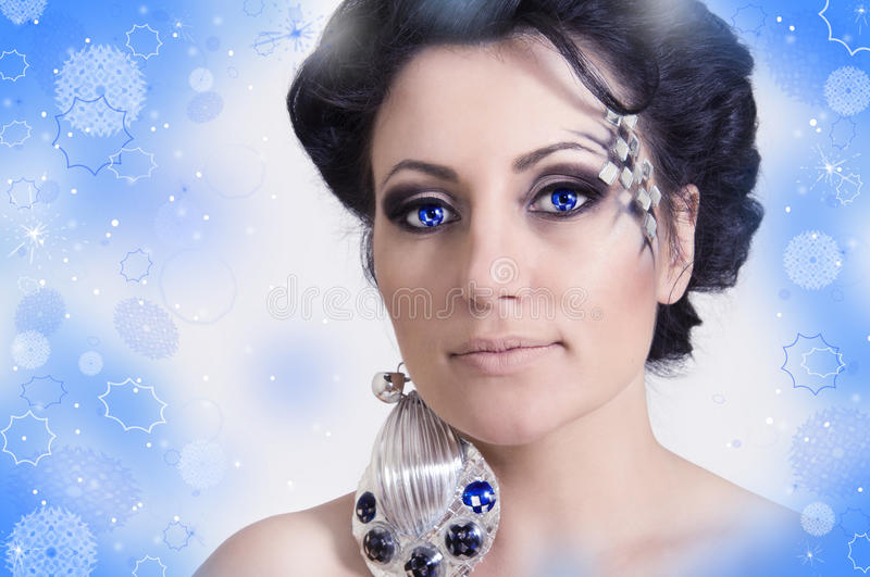 Ritratto della regina di inverno fotografie stock libere da diritti
