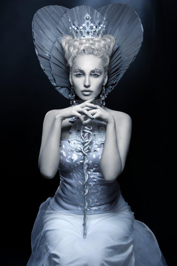 Ritratto della regina di inverno immagini stock