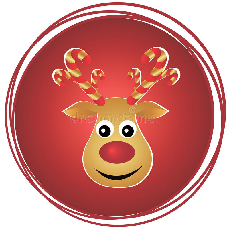 Ritratto della renna illustrazione di stock