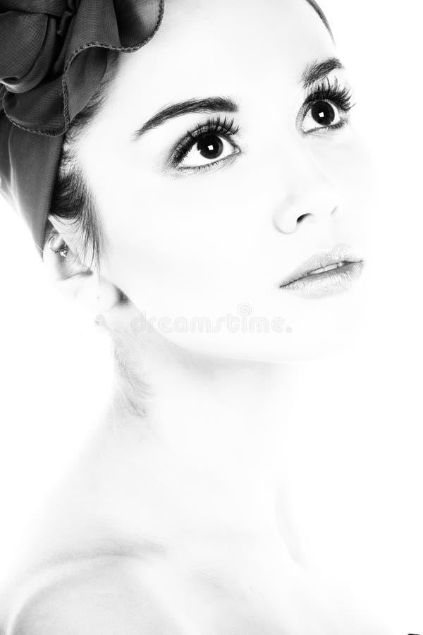 Ritratto della signora. Fotographia di B&W. fotografia stock libera da diritti