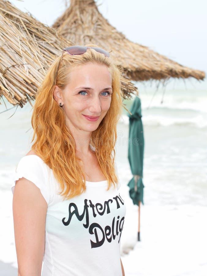 Ritratto della spiaggia fotografia stock