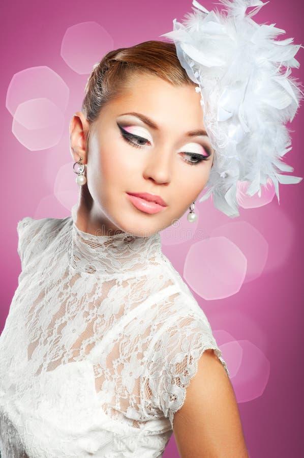 Ritratto della sposa di bellezza fotografie stock libere da diritti
