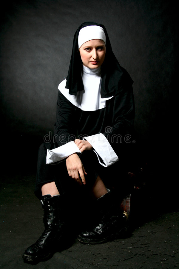 Ritratto della suora fotografia stock
