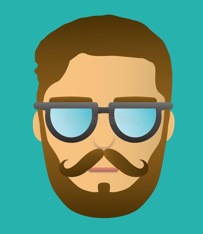 Ritratto della testa dei pantaloni a vita bassa della barba fotografia stock libera da diritti