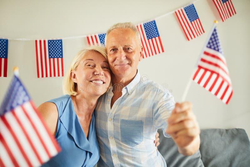 Ritratto delle coppie americane senior fotografie stock