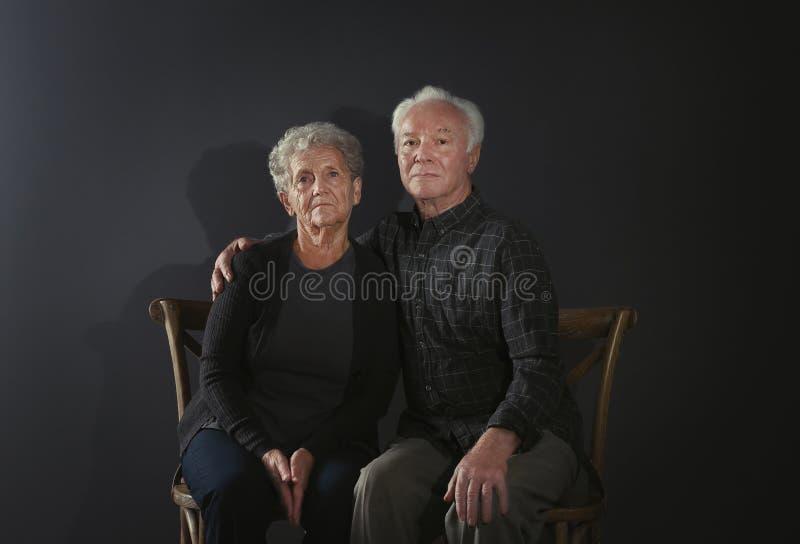 Ritratto delle coppie anziane difficili fotografie stock libere da diritti