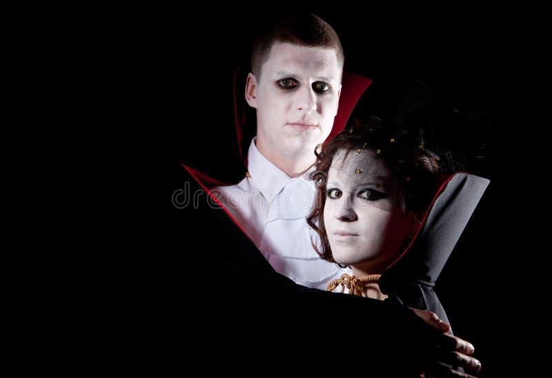 Ritratto delle coppie del vampiro fotografia stock libera da diritti
