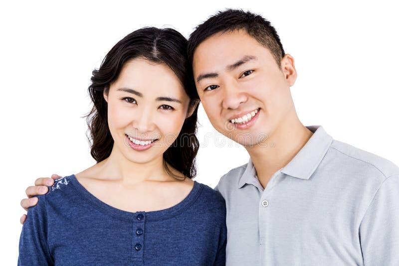 Ritratto delle coppie felici immagini stock libere da diritti