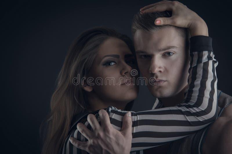 Ritratto delle coppie romantiche immagine stock