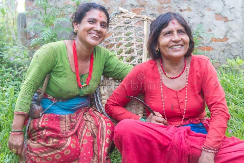 Ritratto delle donne nepalesi rurali fotografia stock libera da diritti