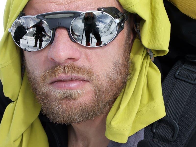 Ritratto dello scalatore fotografia stock libera da diritti