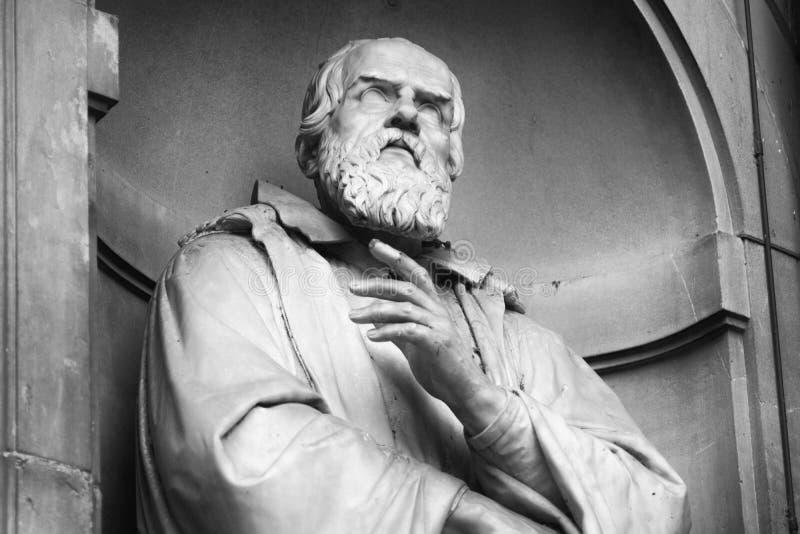 Ritratto dello scienziato e dell'astronomo famosi Galileo Galilei fotografia stock