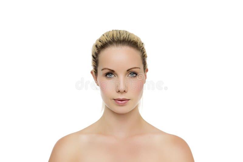 Ritratto dello studio della donna attraente fotografia stock