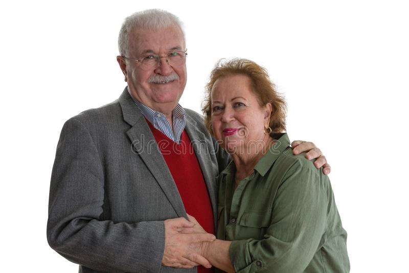 Ritratto dello studio delle coppie senior sorridenti immagini stock