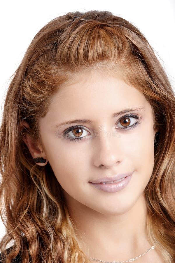 Ritratto dello studio di giovane bella ragazza immagini stock libere da diritti