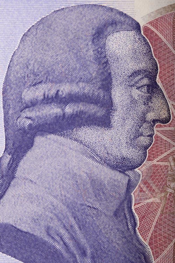 Ritratto di Adam Smith immagini stock libere da diritti