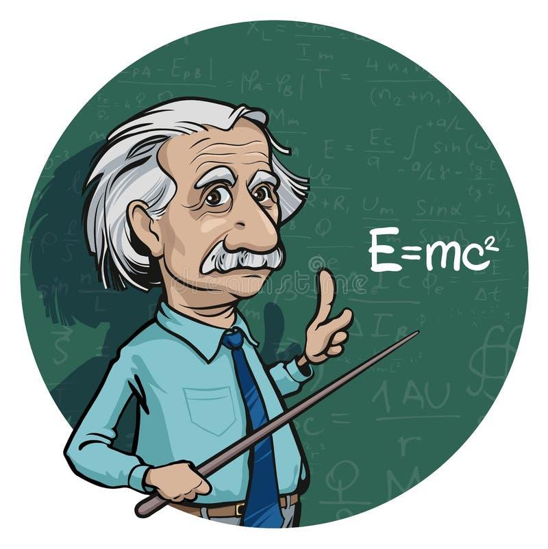 Ritratto di Albert Einstein Illustrazione di vettore Uso editoriale soltanto illustrazione vettoriale