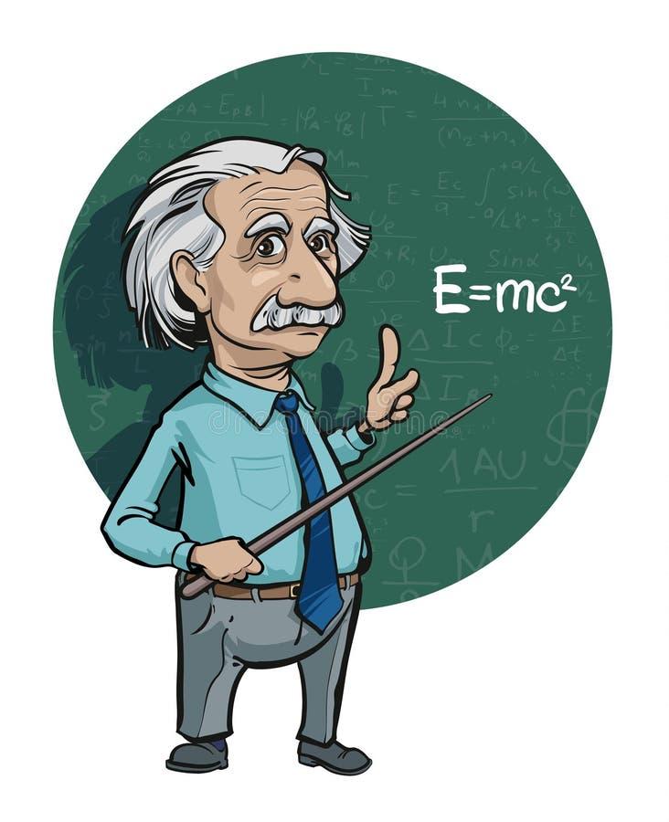 Ritratto di Albert Einstein Illustrazione di vettore Uso editoriale soltanto royalty illustrazione gratis