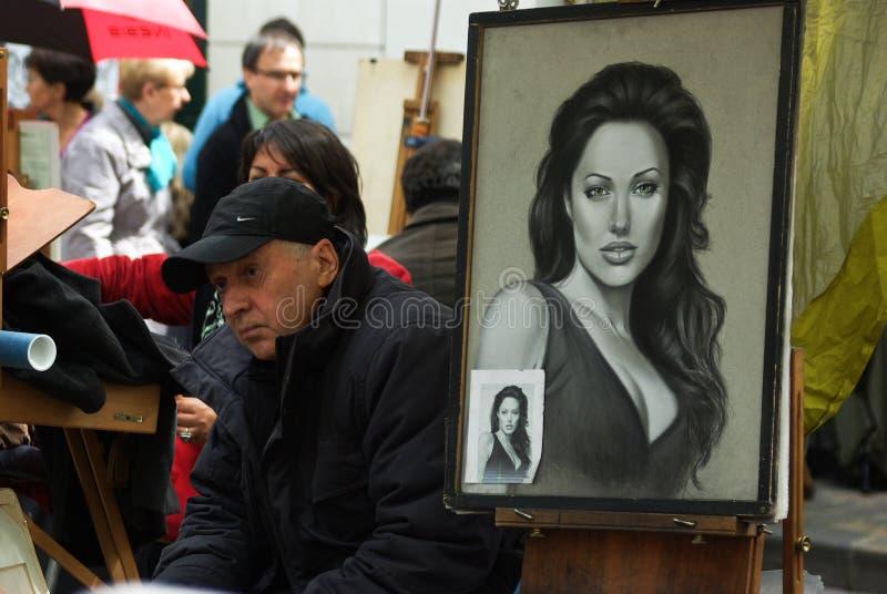 Ritratto di Angelina Jolie fotografie stock