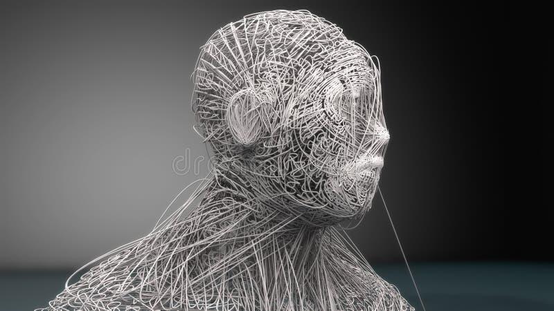 Ritratto di arte del viso umano royalty illustrazione gratis