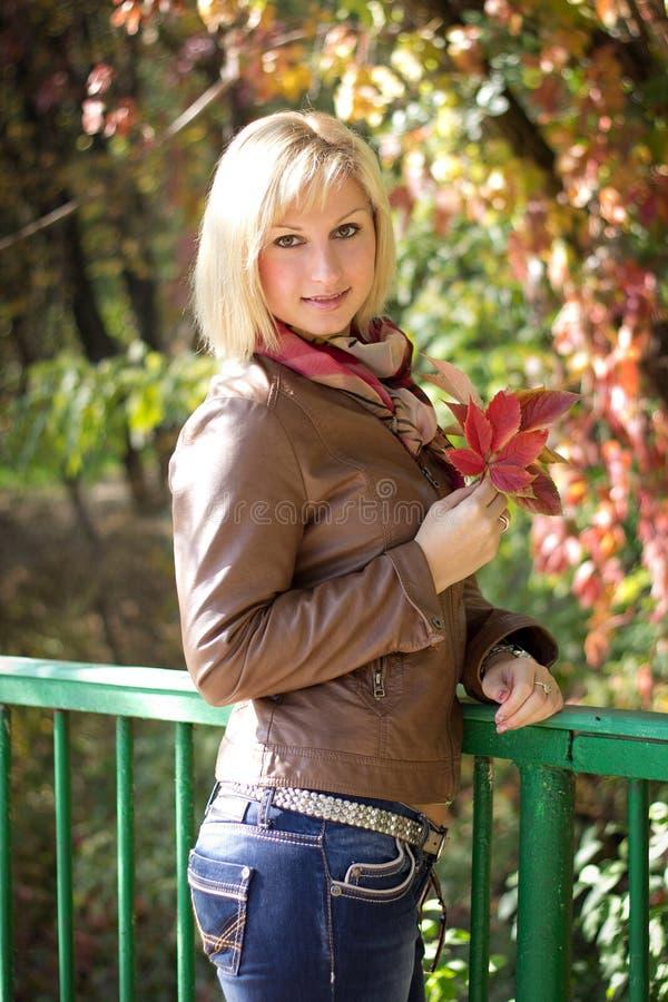 Ritratto di autunno della ragazza fotografia stock libera da diritti