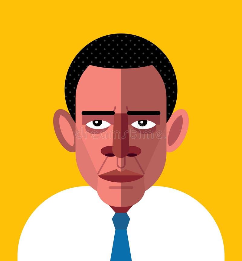 Ritratto di Barack Obama royalty illustrazione gratis