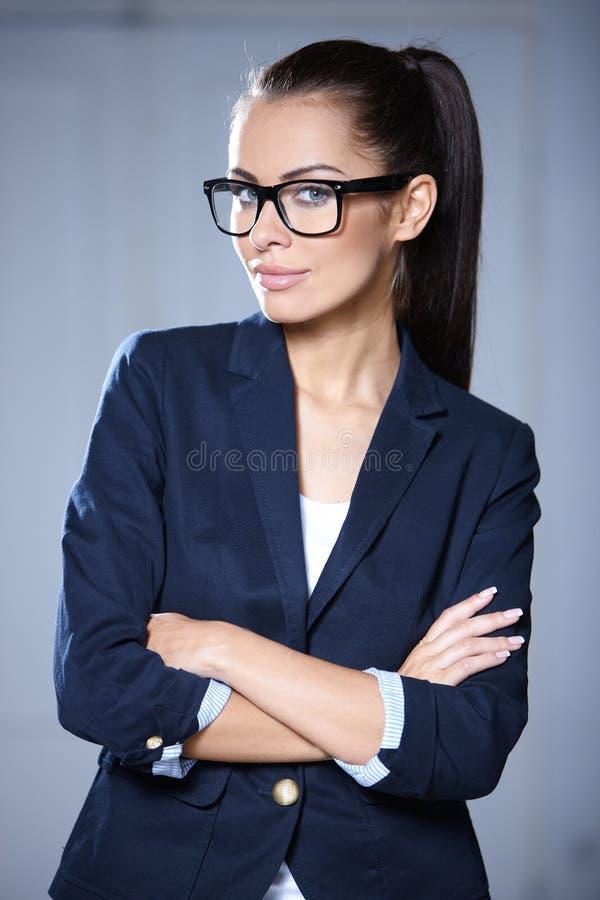Ritratto di bella donna di affari immagini stock libere da diritti