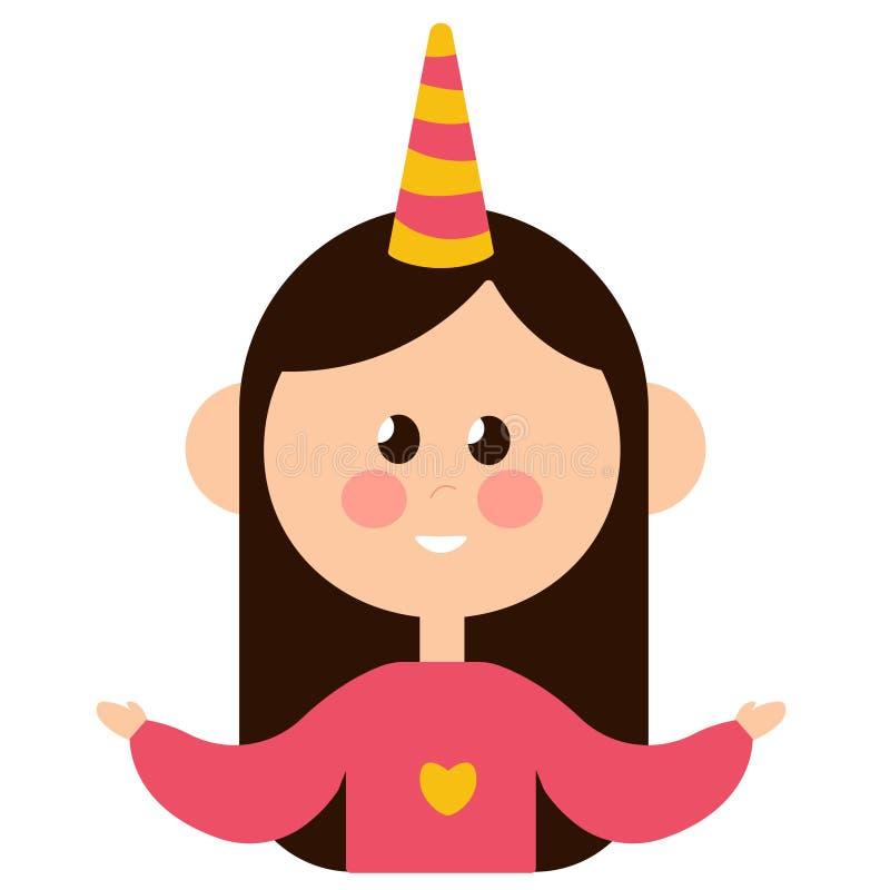 Ritratto di bella felicità allegra della ragazza royalty illustrazione gratis