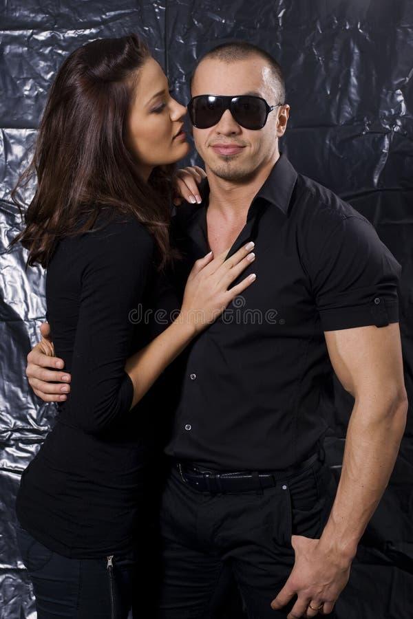 Ritratto di bella giovane coppia immagini stock