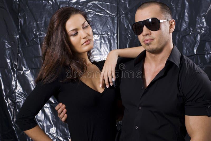Ritratto di bella giovane coppia fotografia stock