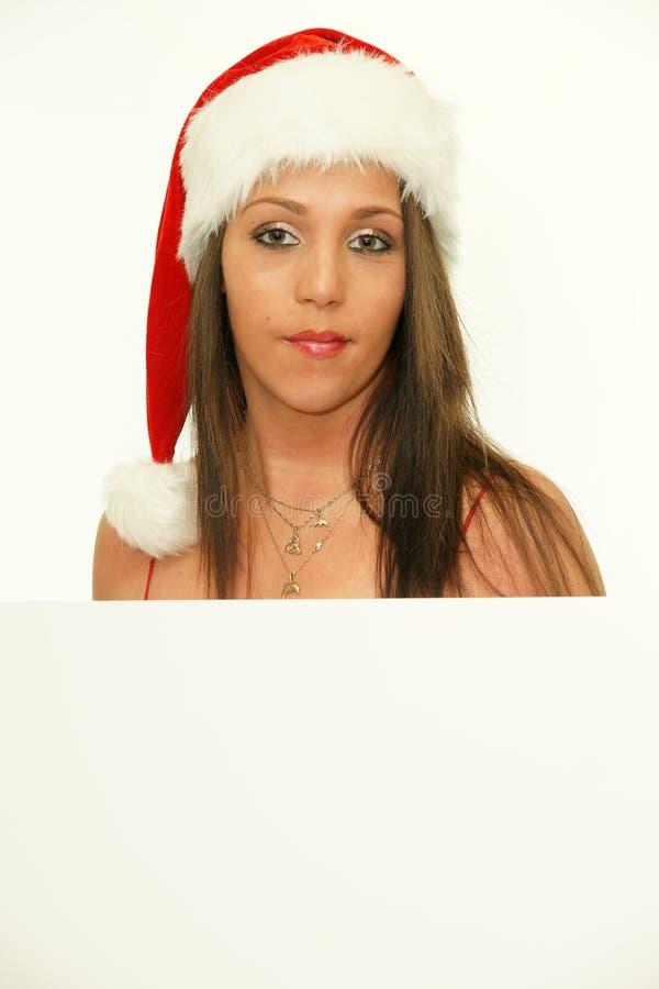 Ritratto di bella giovane ragazza di natale fotografie stock libere da diritti
