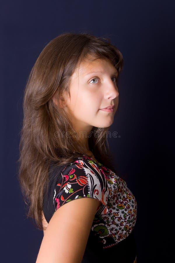 Ritratto di bella ragazza fotografia stock