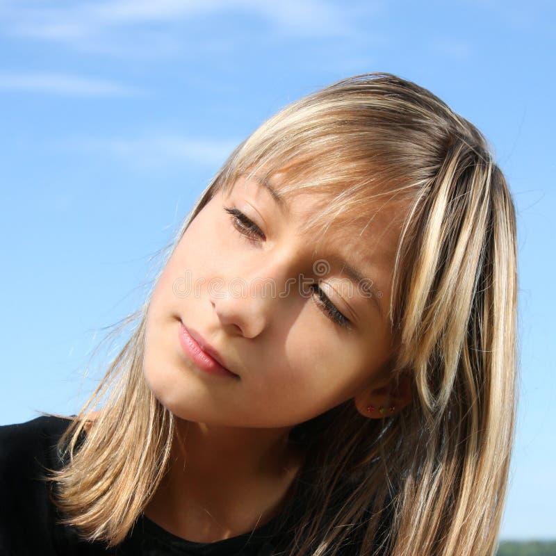 Ritratto di bella ragazza immagine stock