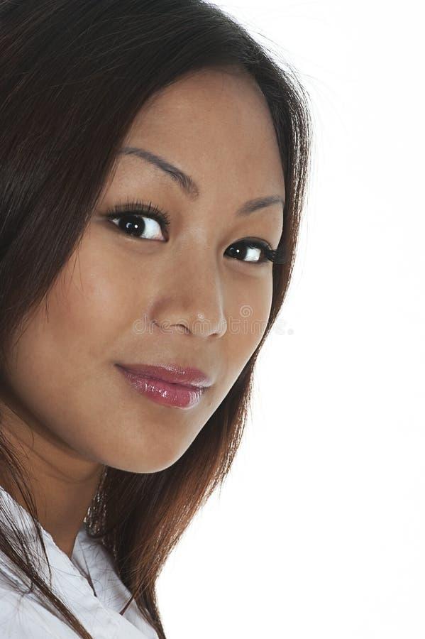 Ritratto di bella ragazza asiatica immagine stock
