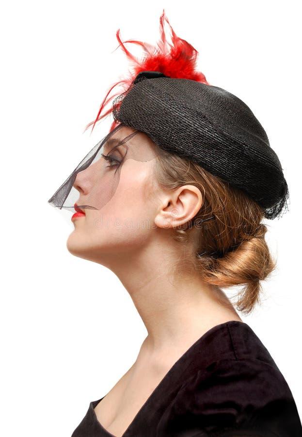 Ritratto di bella signora in un velare fotografia stock libera da diritti