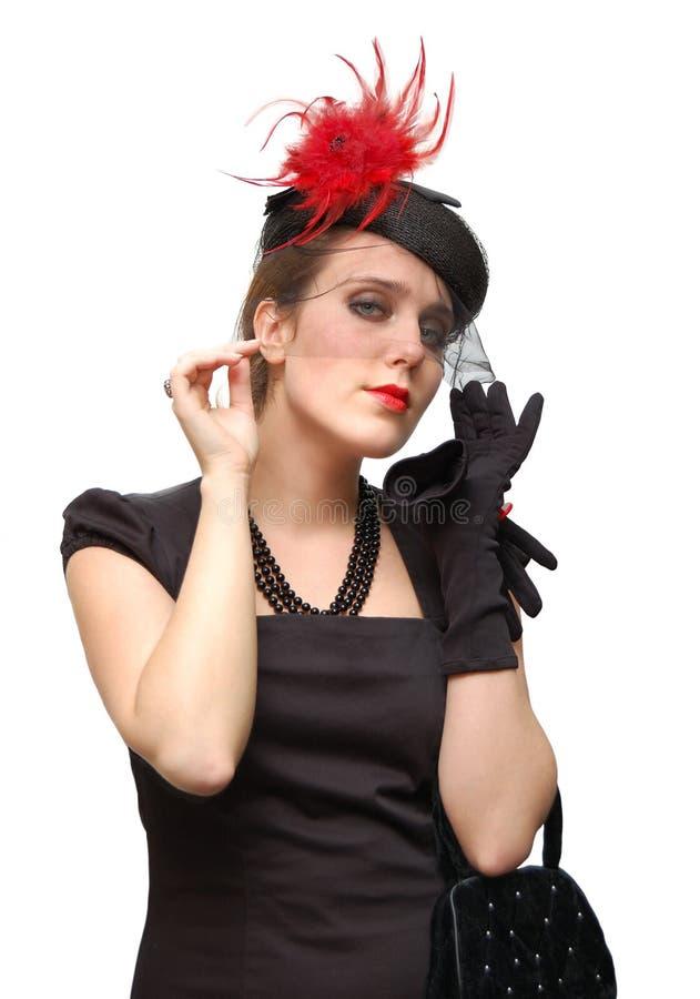 Ritratto di bella signora in un velare fotografie stock libere da diritti