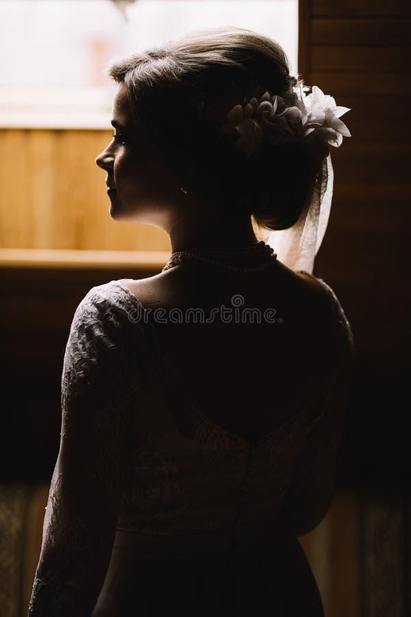 Ritratto di bella sposa fotografia stock