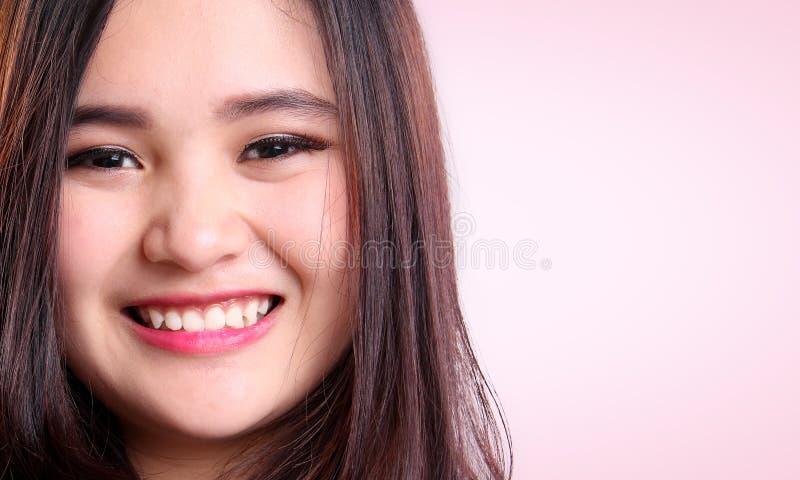 Ritratto di bellezza del primo piano asiatico della donna fotografia stock libera da diritti