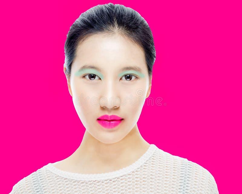 Ritratto di bellezza dell'adolescente cinese immagine stock libera da diritti