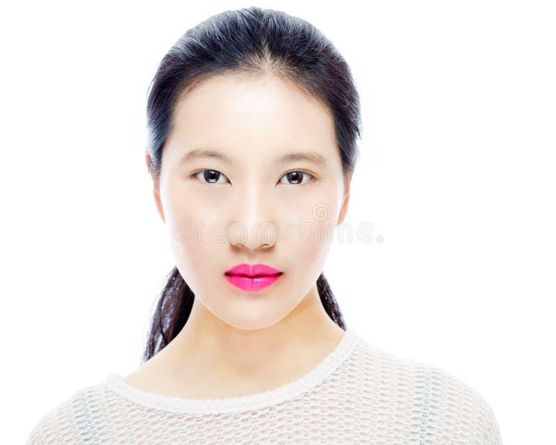 Ritratto di bellezza dell'adolescente cinese immagini stock libere da diritti
