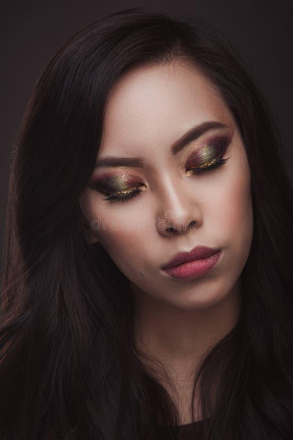 Ritratto di bellezza della donna asiatica immagini stock libere da diritti
