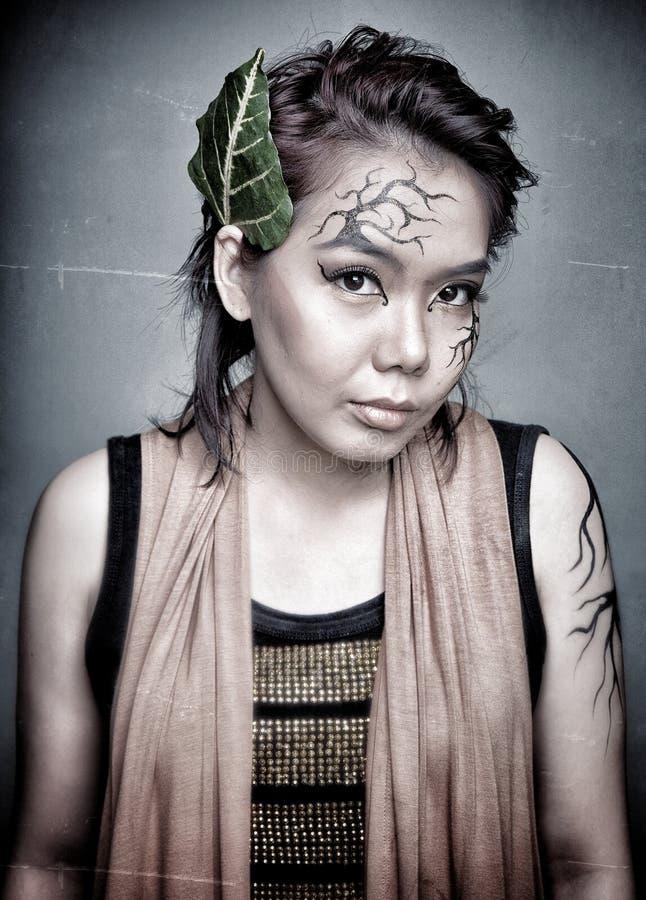 Ritratto di bellezza Trucco creativo fotografia stock libera da diritti