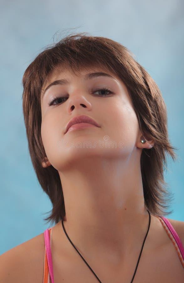 Ritratto di bello adolescente. fotografia stock libera da diritti