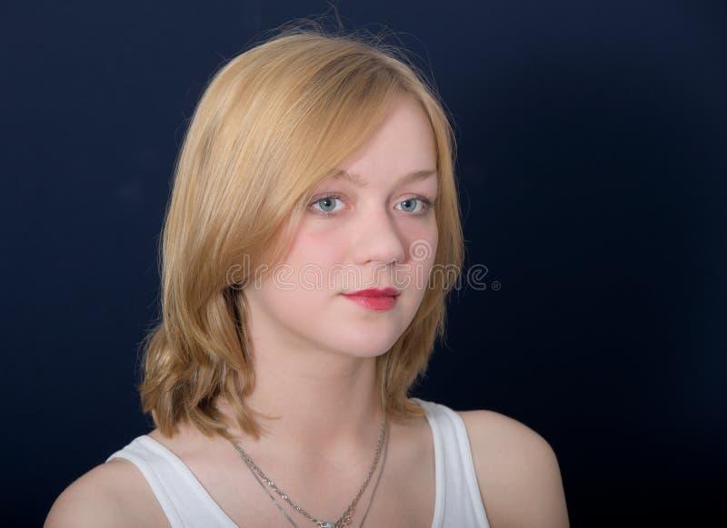 Ritratto di bello blonde immagine stock