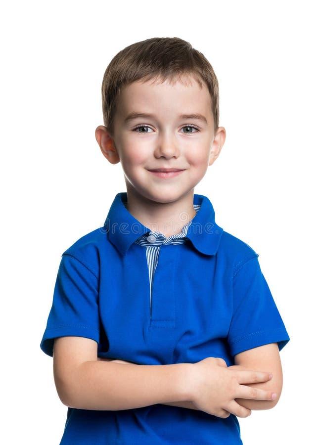 Ritratto di bello ragazzino allegro felice immagine stock